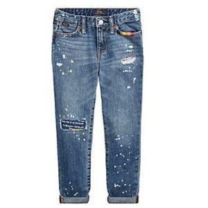 Ralph Lauren Toddler Distressed Boyfriend Jeans